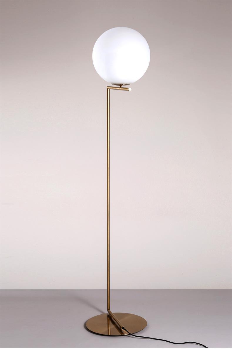 Modern LED Floor Lamp Floor Light Shade Glass Ball Standing Lamp for Bedroom Living Room Gold Designs (20)