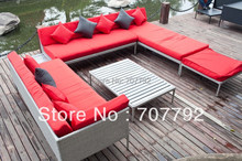 Outdoor Patio Wicker Furniture Modern Couch Set(China)