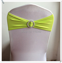 265pcs Stretch Chair Cover Bands Lycra With Ring Buckle Replace Chair Sash Wedding Party Decor FREE SHIPPING MARIOUS(China)