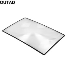 2017 New 3X Convinient PVC Magnifier Sheet 180X120mm Book Page Magnifying Book Page Reading Glass Lens Magnification