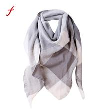 Feitong winter warm high quality snud scarves for women Shawl Cashmere Autumn poncho female stole Plaid Wool Scarves Scarf(China)