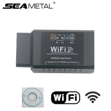 Car OBD 2 WIFI Connection Wireless OBD ii OBDii Diagnostic Tool ELM327 WIFI OBD2 Tool Works For iphone IOS Android Smart ELM 327(China)