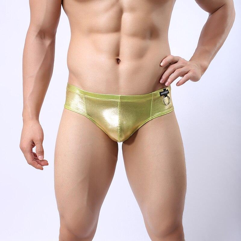 Men's Underwear Search For Flights Comeondear Men Briefs Underwear Faux Leather Sexy Zipper Panties Bandage Synthetic Hollow Out Slip Men Gay Sexy Underwear Mkp068