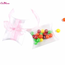 100Pieces Nice Gift Bag Wedding Candy Box Sweet Bags Clear PVC Pillow Wedding Favors and Gifts for Guests Wholesale Cheap Price