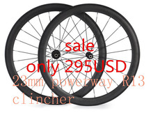 free shipping carbon wheels 700C 50mm clincher bicycle wheelset powerway R13 hubs raod carbon wheel 23mm width bike wheels wheel