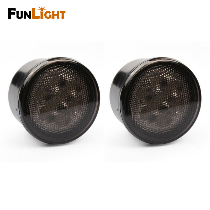 LED Yellow Front Replacement Turn Signal Light Assembly with Smoke Lens for 2007 - 2017 Jeep Wrangler <br>