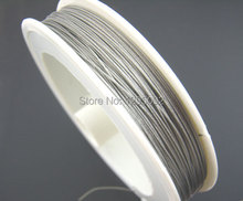 1 Roll (70M) Free Shipping Wholesales Hot New DIY Silver Tone Beading Wire Creation Component Women & Men Jewelry 0.45mm