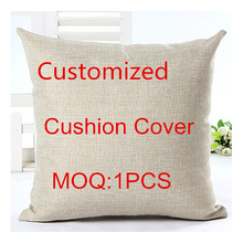 2016 Customized Linen Cotton Cushion 45*45cm For Home Sofa Decorative Cotton Throw Sofa Decor Cojines(China)