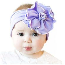 Girls Lovely Big Flowers Hairband Elastic Head Band Kids Headwrap Hair Accessories