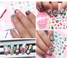 1 Pc Christmas Series Nail Stickers 3D Nial Sticker Cute Christmas Tree And Snowman Designs Nail Stickers QJ-3D-901-912(China)