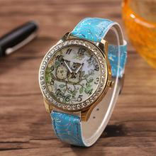 Erkek Kol Saati Reloj Hombres Relogio Masculino Gift MenWatch Male Female Universal Cartoon Owl Couple Model Diamond Quart June6