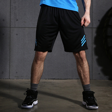 Mens Light Weight GYM Workout Running Shorts Training Soccer Tennis Solid sports Shorts With Zip Pockets(China)