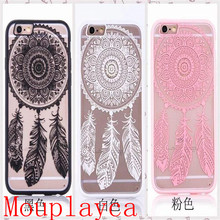 Mouplayca Case For iPhone 5 5s 6 6splus 7 7plus Bud silk pattern TPU back cover Phone case++++++++gift
