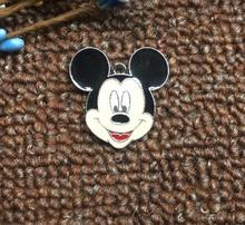 20pcs Cartoon Mickey head Metal Charm Key chain necklace Pendants DIY Jewelry Making Mobile Phone Accessories