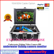 15M Cable Underwater Fishing Camera Sony CCD Night Vision Waterproof 7 inches Color LCD Lithium Battery Portable Fish Finder(China)