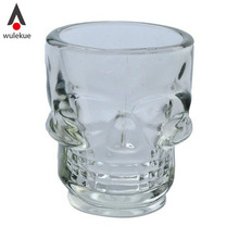 4PCS Crystal Skull Head Brandy Snifters Vodka Whiskey Strong Drink Shot Wine Glass Cup Mug Bar Party Drinking Ware Accessories