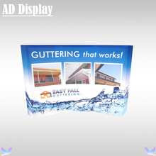 210*150cm Curve Shape Expo Booth Advertising Pop Up Banner Display Stand With Heat Transfer Full Color Fabric Printing