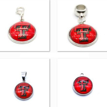 2018 Fashion Jewelry Texas Tech University Charm Pendant Fit Bracelet DIY Dangle Charms Women Gifts(China)