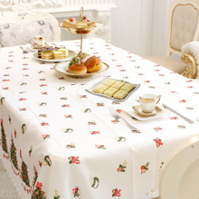 150x180cm Christmas Theme Pattern Tablecloth Xmas Polyester Table Cloth Cover For Christmas Table Decorative Accessories