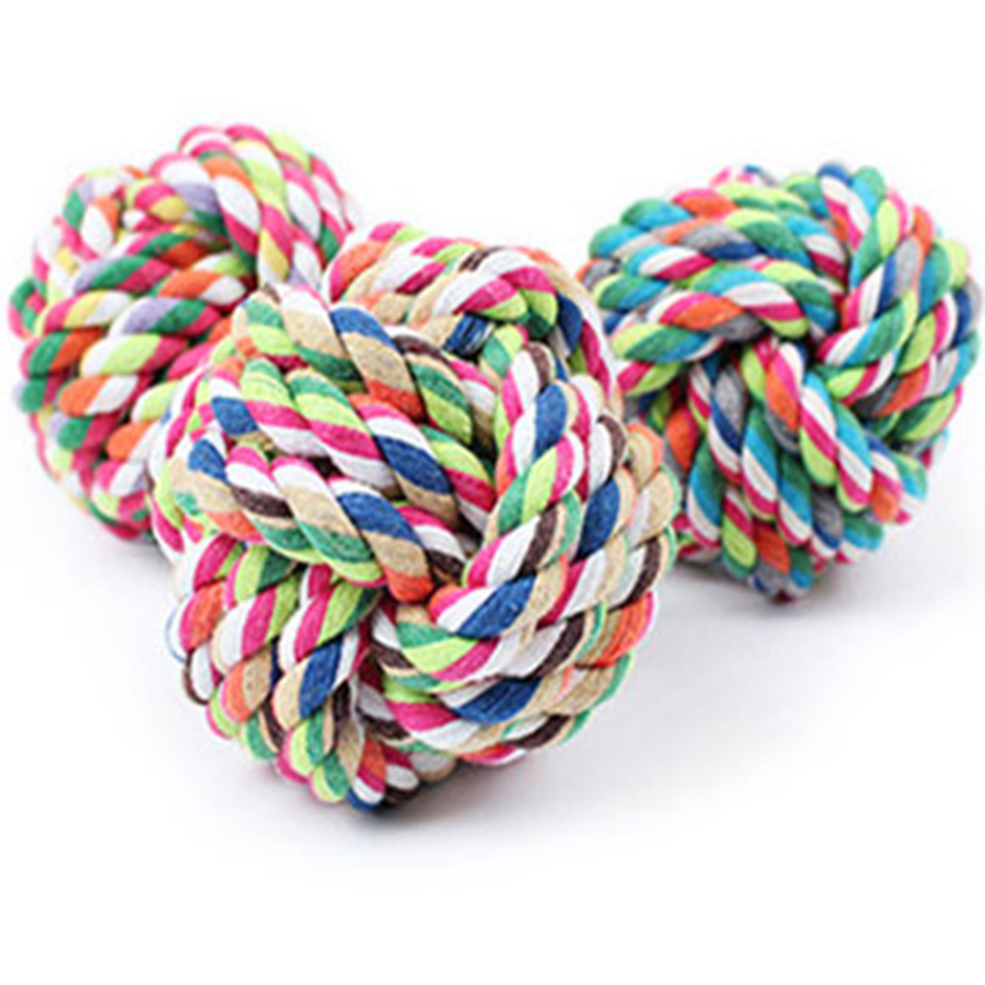 Interactive Ball Dog Toy Cotton Rope Training Accessories Strong Dog Toys Puzzle Conejo Balle Chien Play Pets Games 50M0256(China (Mainland))