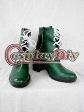 Sailor Moon Jupiter Cosplay Shoes Women Girls Green Casual High Heeled Ankle Boots