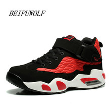 Big Size 36-45 46 47 Men and Women Basketball Shoes Comfortable Lovers High Top Cushioning Sports Shoes Plus Size