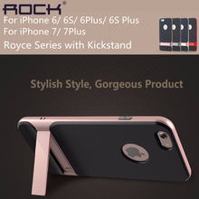 Rock Hybrid Stand Cover for iPhone 7 Plus Case Ultra Thin PC TPU Armor Back Cover for iPhone 6 6S Plus Case Protective Shield