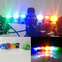 Safety Warning LED Silicone Bike Bicycle Light Handlebar LED Flash Lamps Waterproof Cycling Front Rear Rail Light With Battery(China)