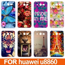 For Huawei Honor U8860 Cases/Various Painting Hard Plastic UV Phone Back Cover Cases For Huawei U8860 Honor Covers(China)