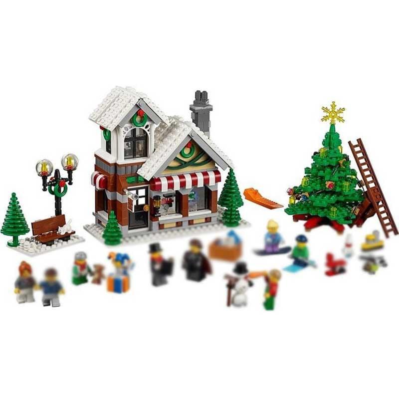 LELE 39015 945pcs Winter Village Toy Shop Creator CHRISTMAS TREE Building Bricks Blocks Toys Compatible 10249  <br>
