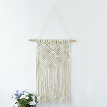 Newest Handmade Macrame Wall Hanging Home Decor Retro Craft Handwoven Cotton Thread Unique Home Decoration Best Gifts(China)