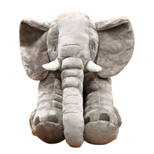 ABWE 30CM 1 pcs cute Elephant Plush Toys plated Doll Stuffed Pillow Home Decor for Children Gifts Kids Sleeping Back Cushion
