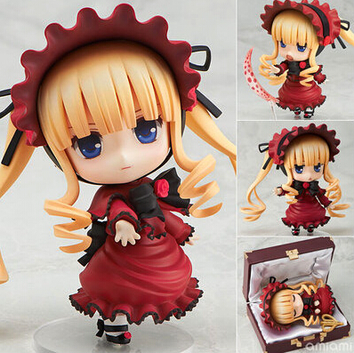 NEW hot 10cm Q version Rozen Maiden Rose maiden Shinku movable action figure toys collection christmas toy doll with box<br>