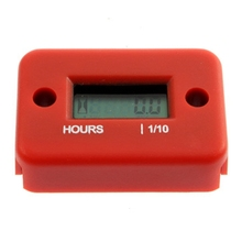 High Quality Digital Engine Hour Meter Inductive Waterproof LCD Hourmeter for Motorcycle Dirt Quad Bike Marine ATV Snowmobile