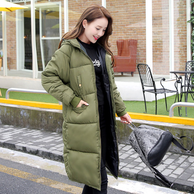2017 New Arrival Autumn Winter Women Hollow Cotton Jackets Hat Long Wide-waisted 96% Hollow Cotton Slim Oversize Thick MT79Одежда и ак�е��уары<br><br><br>Aliexpress