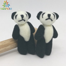 Bulk 50pc Black 4cm Plush Mini Jointed Panda Stuffed Dolls Soft Pendant For Keychina/Ornament/Craft Jewellery Accessory Gift