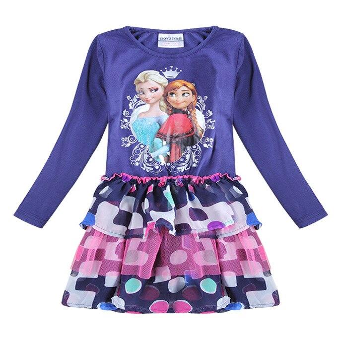 Girls Dress Anna Elsa Long Girls Dress Kids Princess Layered Dress Nova Kids All for children clothing and accessories<br><br>Aliexpress
