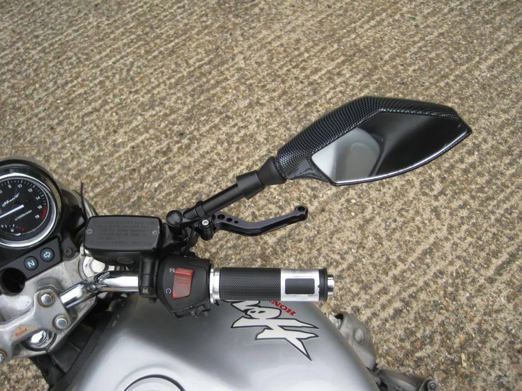 LED Turn Signals Integrated Motorbike Mirrors for Honda, Kawasaki, Suzuki, Yamaha, Ducati