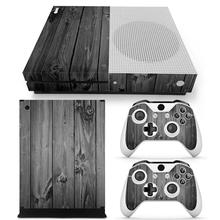 Wood Grey Cover Decal For Microsoft Xbox One Slim Skin Sticker Console Controller Decorate Skins For Xbox One S