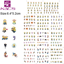 HOTSALE BLE1852-1862 11sheet/Set lovely Minions Water decal nail stickers design for nail accessories water transfer stickers