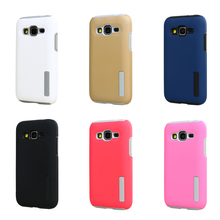 2 in 1 Colorful Hybrid Rugged Rubber Armor Case For Samsung Galaxy Core Prime G360 G3606 G3608 Hard PC+TPU Shockproof Case  GE01