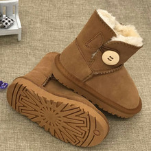 2017 New Brand Children Shoes Girls Boots Winter Warm Ankle Toddler Boys Boots Shoes Kids Snow Boots Children's Plush Warm Shoe(China)