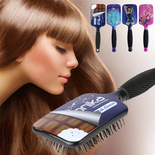 1PC Large Paddle Hair Brush Women Wet Leopard Print Hair Massage Comb Hairdressing Styling Tools Random Color
