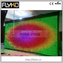 Free shipping P10 3*6M LED video curtain display gif,jpg, text words with flightcase
