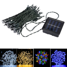 KSOL 33FT 10m 50 LED Solar Powered Fairy String Lights Waterproof for Outdoor, Gardens, Homes, Wedding, Christmas Party