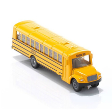 1/87 Diecast American School Bus Models Yellow U1864 Plastic Zinc Alloy Car Models Children Toys Gifts Collections(China)