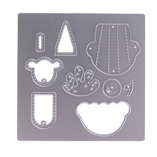 Metal Embossing Folder Ice cream Steel Cutting Dies Stencil for Scrapbooking Frame Decor DIY Paper Card Cutter