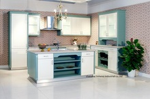 PVC/vinyl kitchen cabinet(LH-PV071)(China)