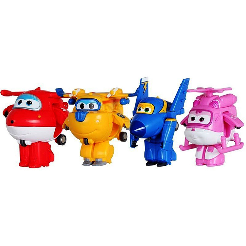 8pcs/set MINI Airplane Anime Super Wings Model toy Transformation Robot Action Figures superwings toys for Children Kids 13