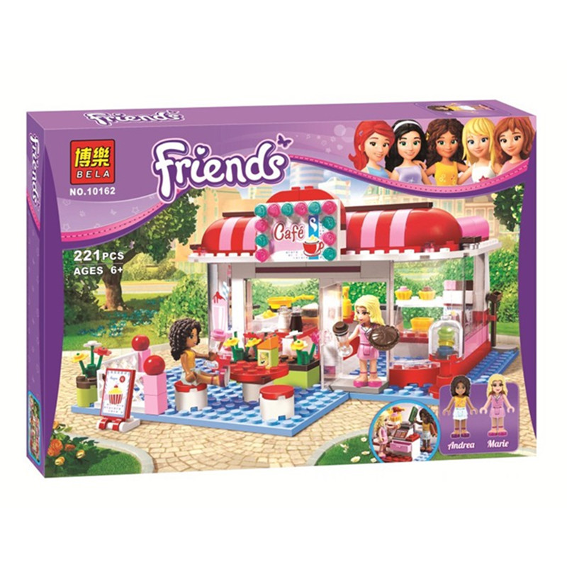 New Original Bela 10162 Friends City Park Cafe Building Block Sets Educational Toys Bricks Toys For Children Toys For Kids 3061<br><br>Aliexpress